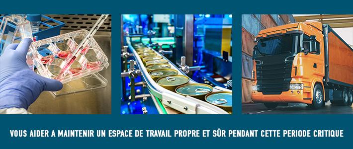Produits industriels clés COVID-19