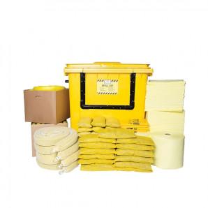 Kit d'absorbants chimiques PIG® Essentials - Conteneur à roulettes avec avant basculant