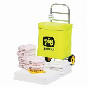 Kit anti-déversement sur roulettes PIG® –Oil Only (pour l'huile - hydrophobe)