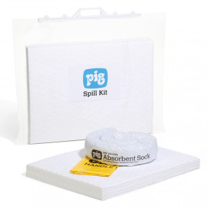Kit d'absorbants hydrocarbures PIG® 15 L dans un sac clipsable