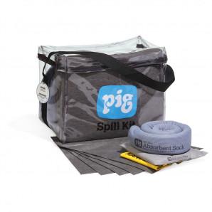 Kits anti-déversement PIG® universel à sac cubique transparent