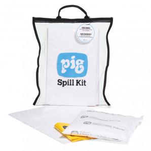 Kit anti-déversement transparent et compact – Oil-Only (pour l'huile - hydrophobe) PIG®