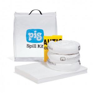 Kit pour déversements PIG® dans un sac transparent