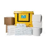 Kits pour déversements d'huile uniquement SW 1000 L - conteneur à roues avec ouverture en façade
