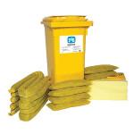 Kits pour déversements de substances chimiques PIG® Essentials 120 L - conteneur à roues