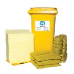 Kits pour déversements de substances chimiques PIG® Essentials 240 L - conteneur à roues