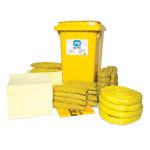 Kits pour déversements de substances chimiques  PIG® Essentials 360 L - conteneur à roues