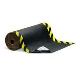 Tapis de sol absorbant et adhésif PIG® Grippy® avec bandes de signalisation