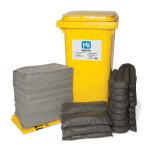 Kits pour déversements universels PIG® Essentials 240 L - conteneur à roues