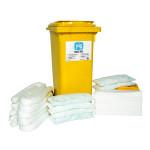 Kits pour déversements d'huile uniquement PIG® Essentials 120 L - conteneur à roues