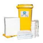 Kits pour déversements d'huile uniquement PIG® Essentials 240 L - conteneur à roues