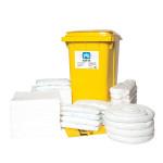 Kits pour déversements d'huile uniquement PIG® Essentials 360 L - conteneur à roues