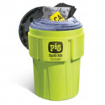 Kits pour déversements PIG dans un conteneur de 360 litres à haute visibilité